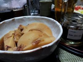 夕食鰻肝と筍